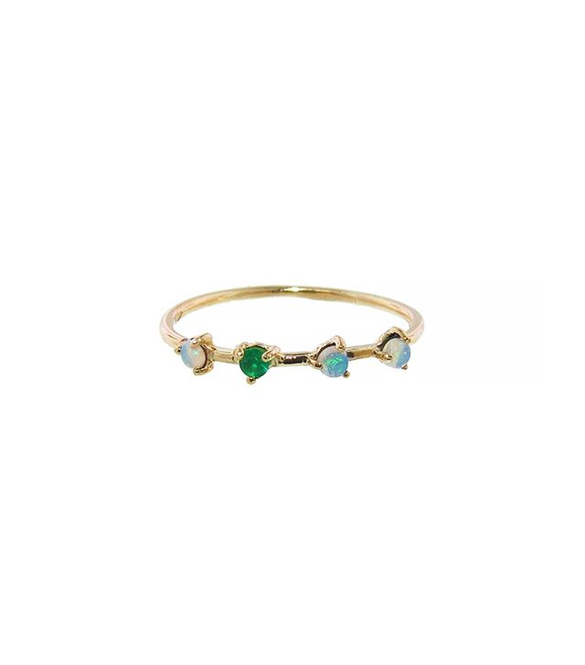 WWake Opal and Emerald Ring
