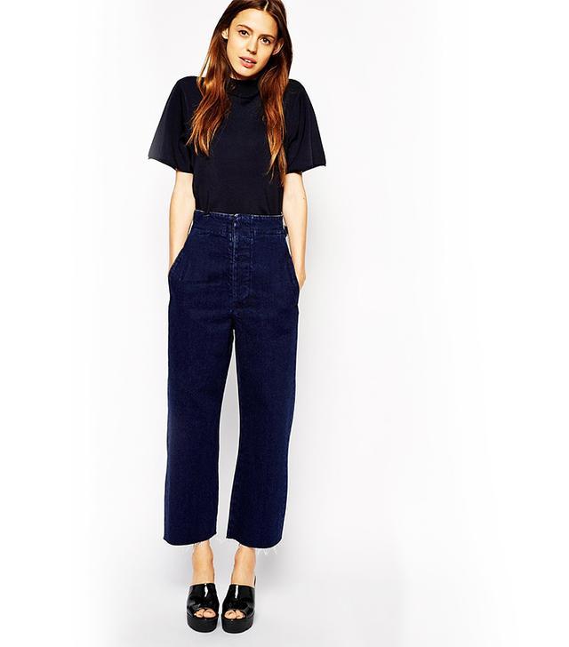 ASOS High Waist Wide Leg Jeans