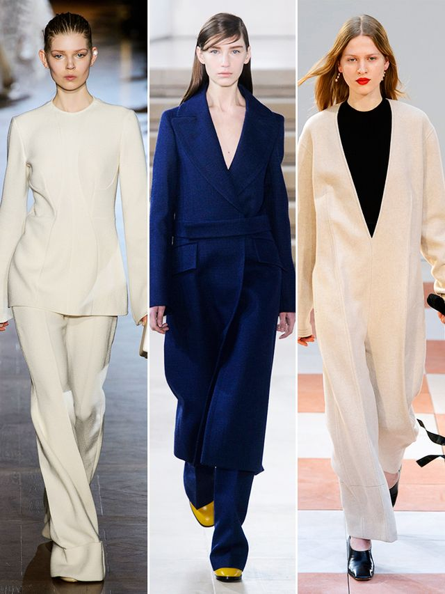 On the runway: Stelle McCartney, Jil Sander, Céline.