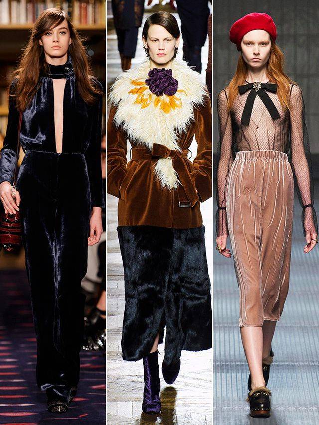 On the runway: Sonia Rykiel, Driex van Noten, Gucci.