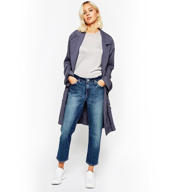 Weekday Ami Mid Rise Comfy Stretch Distressed Boyfriend Jeans