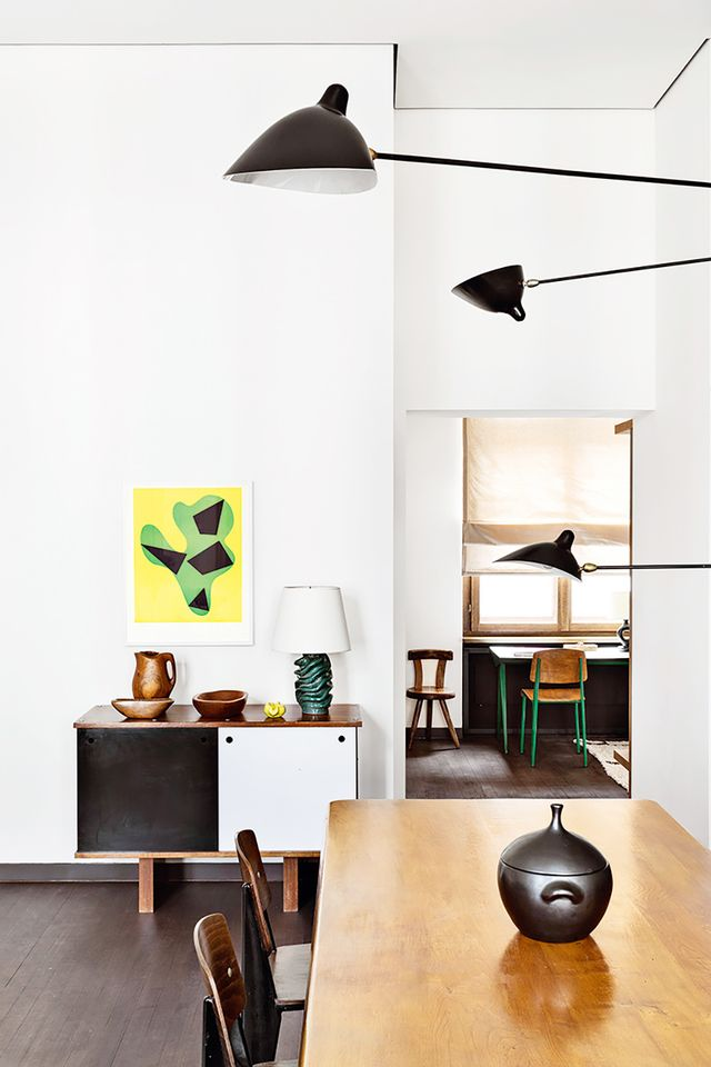 """Roth says the key to making midcentury last is in this variety: """"There are so many different facets of the term 'midcentury.' You can think American (Eames and Saarinen), Danish..."""