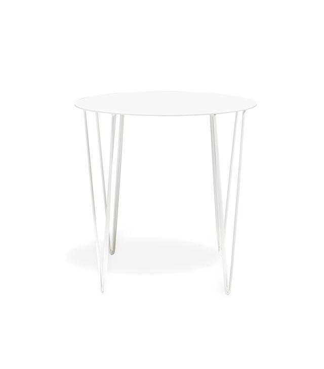 Filo White Iron Side Table