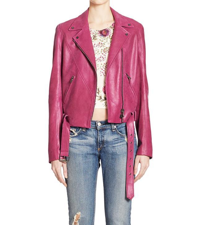 Haute Hippie Leather Moto Jacket
