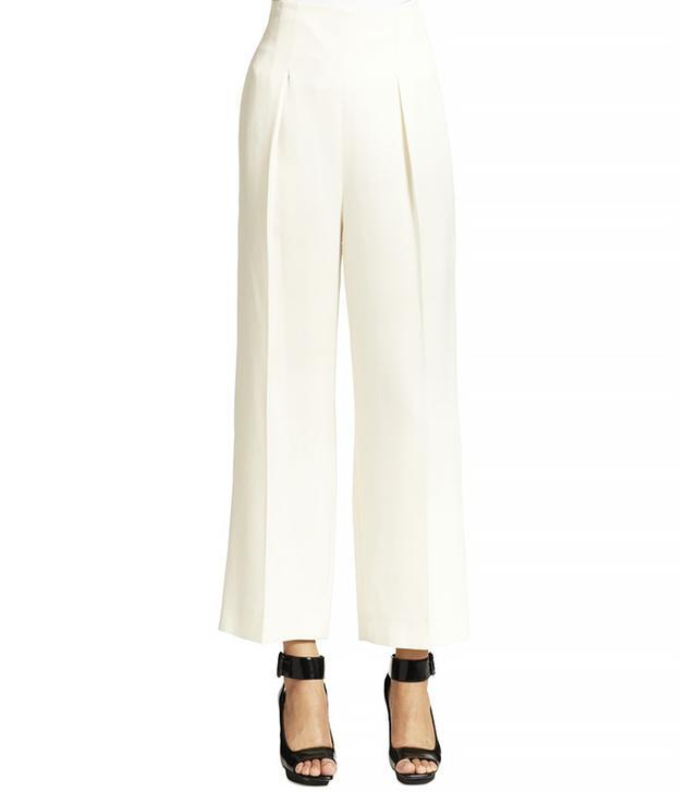 3.1 Phillip Lim Cropped High-Waist Wide-Leg Trouser Pants