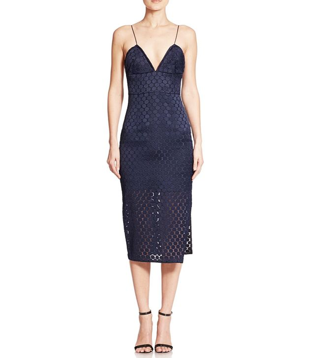Nicholas Embroidered Dot Slip Dress