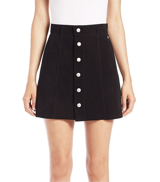 Alexa Chung for AG The Grove Suede A-Line Mini Skirt
