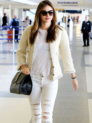 A Celebrity Guide to Wearing White Denim