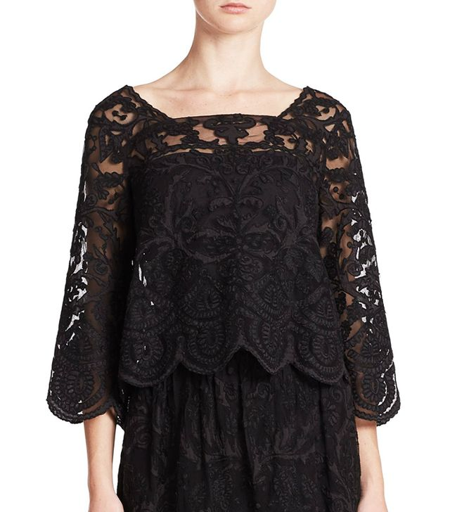 Suno Black Lace Top