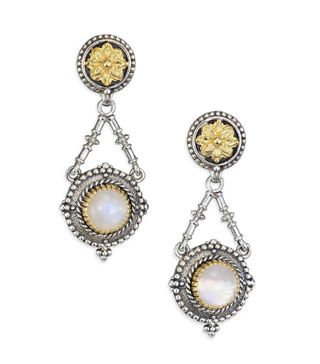 Konstantino Erato Labradorite 18K Yellow Gold & Sterling Silver Drop Earrings