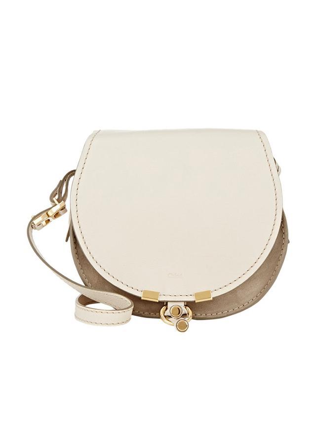 Chloé Marcie Nude Small Saddle Bag