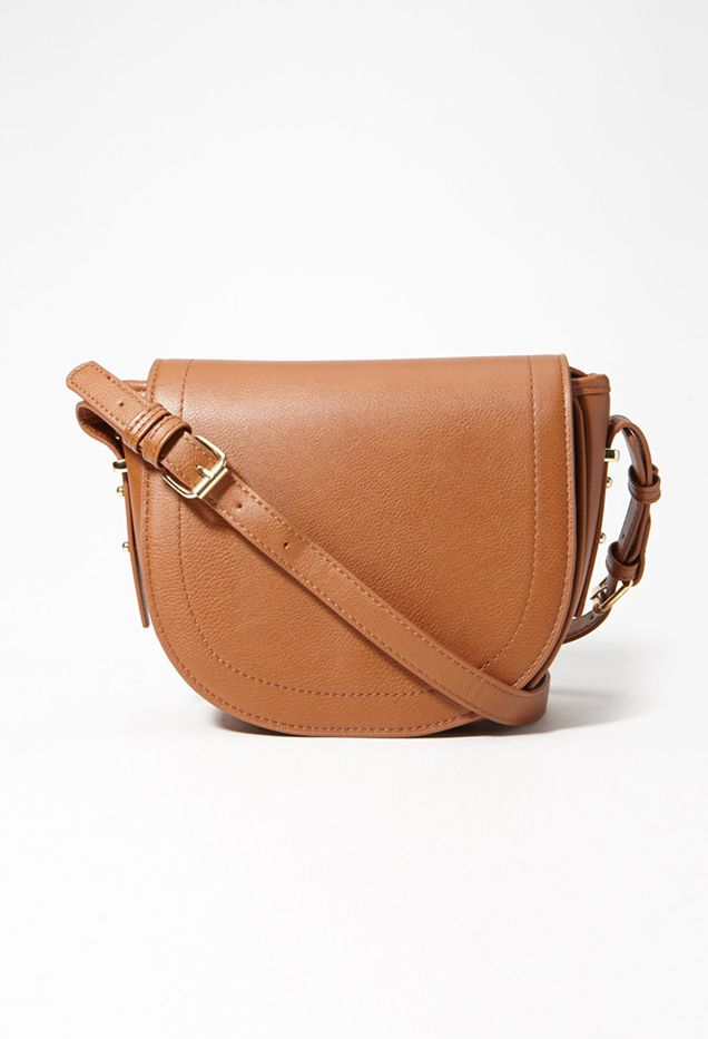 Forever 21 Flap Top Faux Leather Crossbody Bag