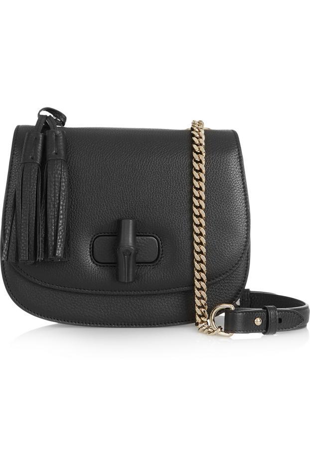 Gucci Linea C Textured Leather Shoulder Bag