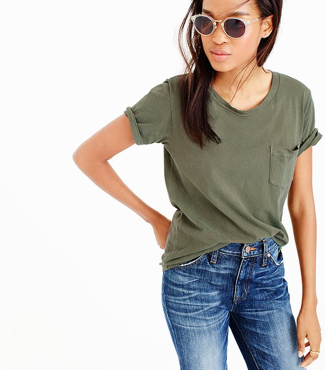 J.Crew Garment-Dyed Pocket T-Shirt