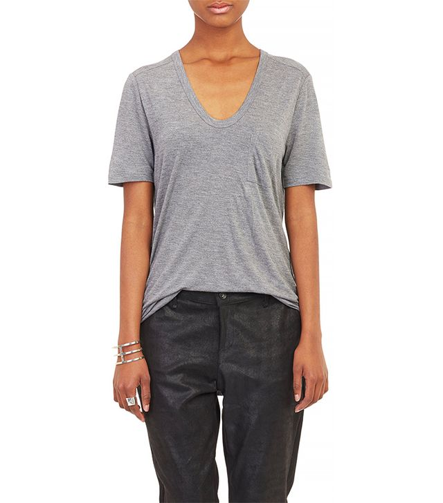 T by Alexander Wang Single Pocket Short Sleeve Tee