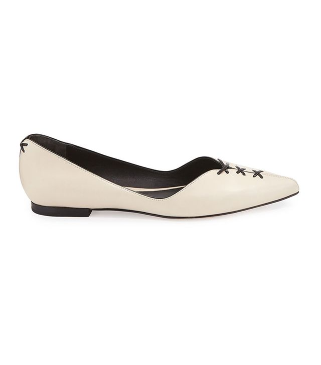3.1 Phillip Lim Martini Lace-Up Pointed-Toe Flats