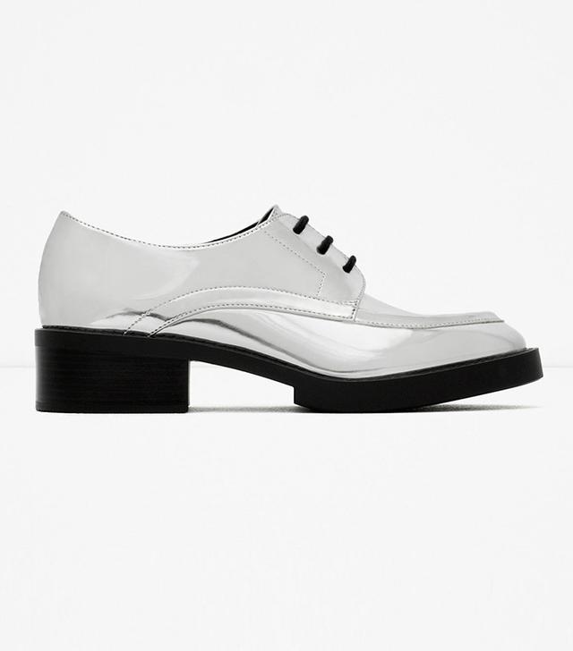 Zara Flat Lace-Up Shoes
