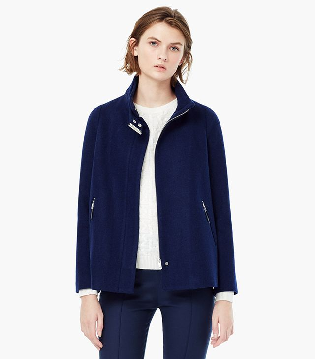Mango Side-Zip Woolcoat