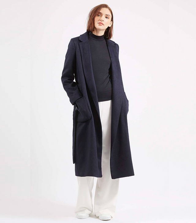 Topshop Belted Wool Blend Coat