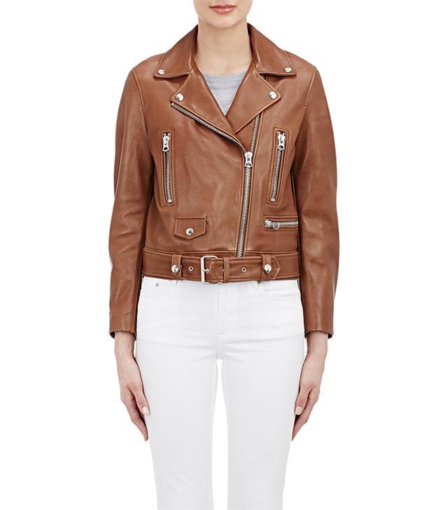 Acne Studios Leather Mock Moto Jacket
