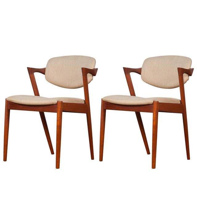 Kai Kristiansen Mid-Century Danish Model 42 Teak Dining Chairs
