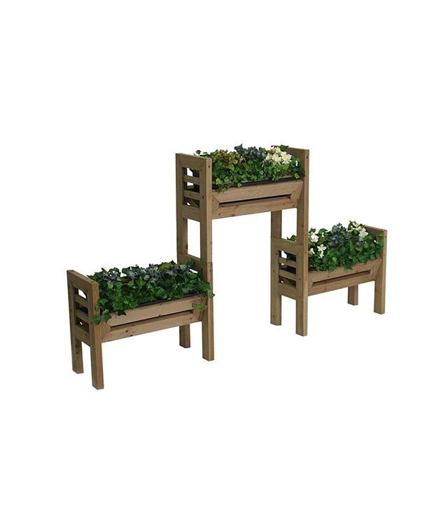 Home Depot Plastic Planter Set
