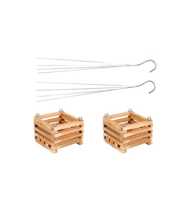 Home Depot Wooden Square Hanging Baskets