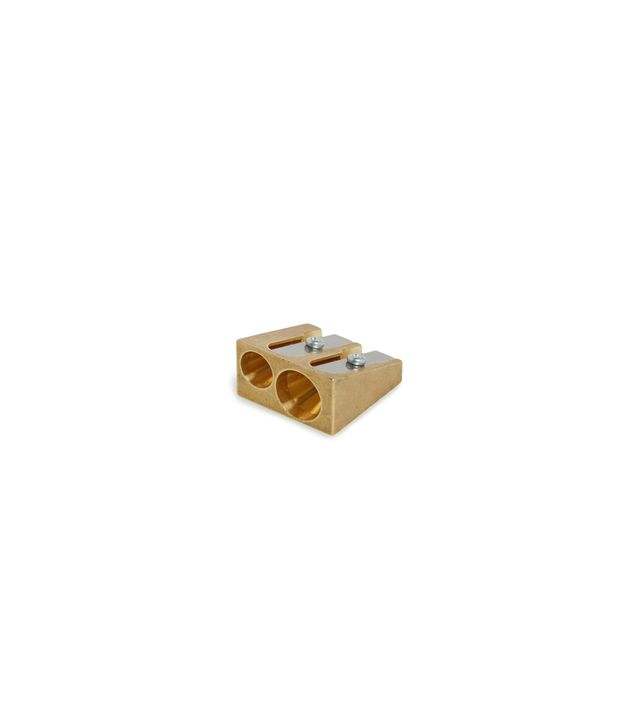 Ellepi Brass Wedge Double Pencil Sharpener