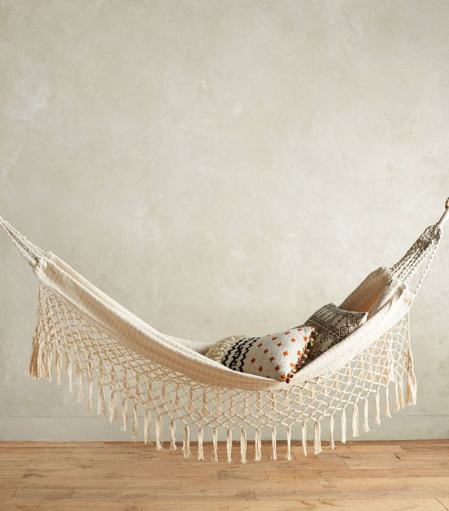 Anthropologie Fringed Macramé Hammock