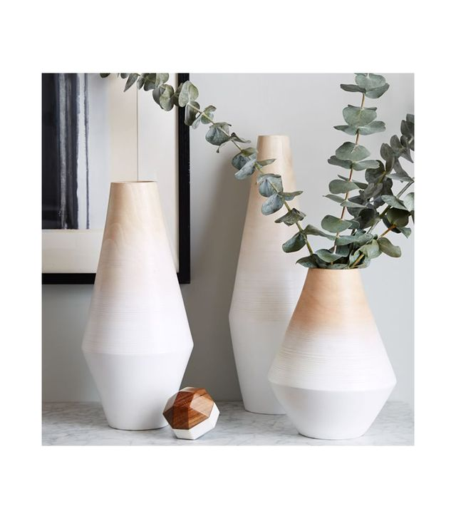 West Elm Modern Wood Ombre Vases