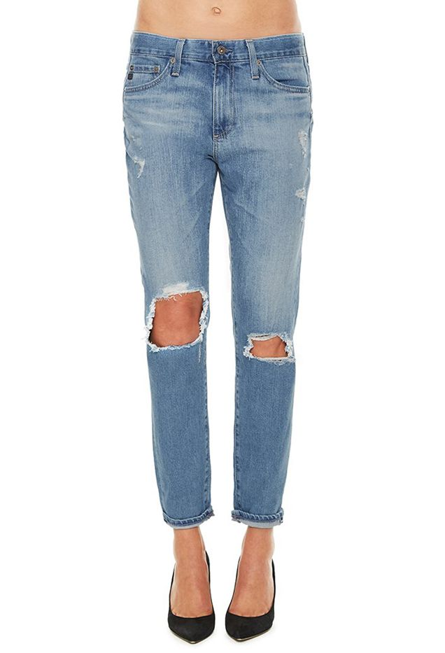 AG The Beau Windsong Ripped Jeans
