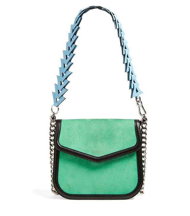 Loewe V Suede Shoulder Bag