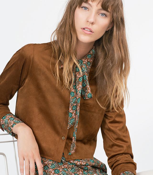 Zara Cropped Overshirt