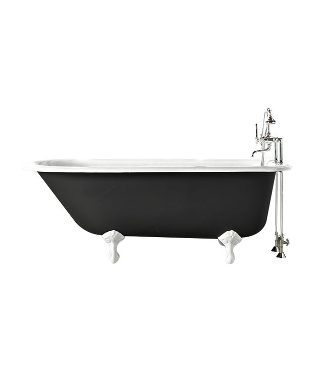 Rejuvenation 5' Clawfoot Tub With Black Exterior