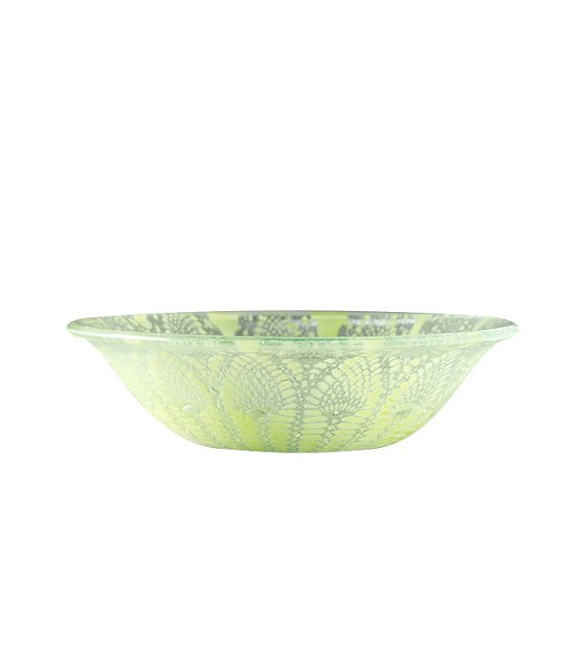 Kicking Glass by Sheree Blum Frosted Bowl
