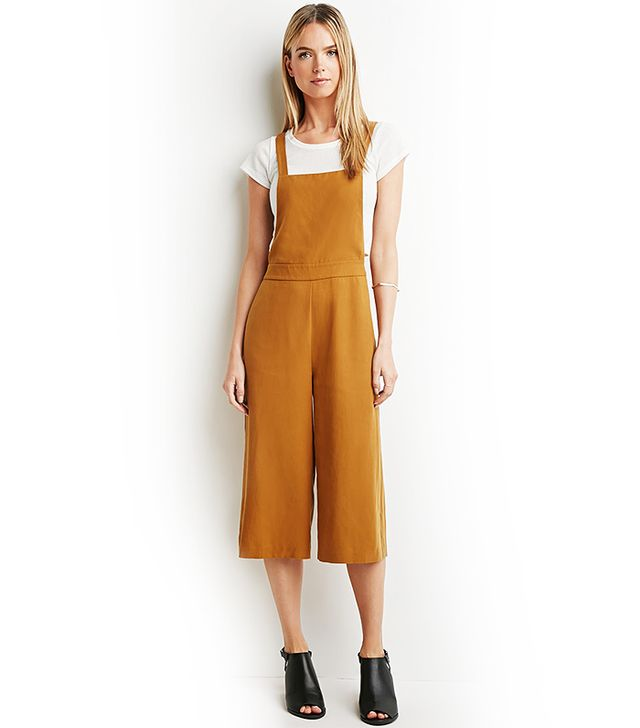 Forever 21 Textured Culotte Overalls