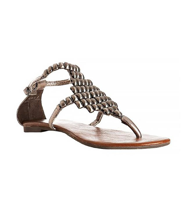 Jeffrey Campbell Pewter Leather Nena Sandals