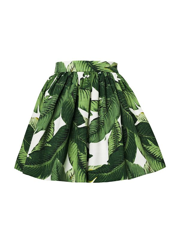 PARTYSKIRTS By SKOT Palm Print Party Skirt