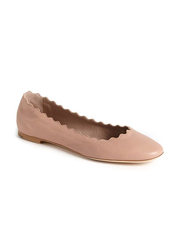 Chloé Lauren Scalloped Ballet Flat