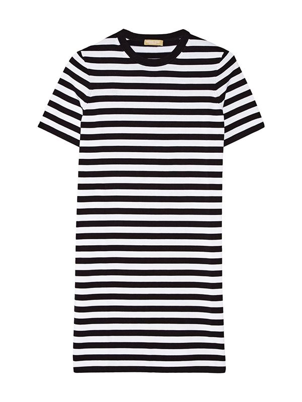 Michael Kors Striped Cotton-Jersey Dress