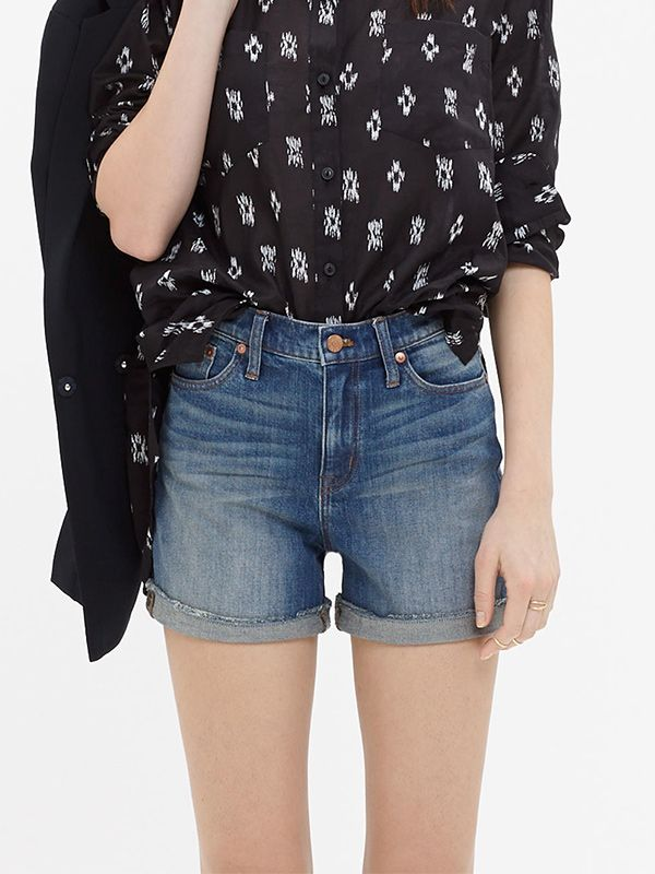 Madewell High-Rise Denim Shorts in Denver Wash