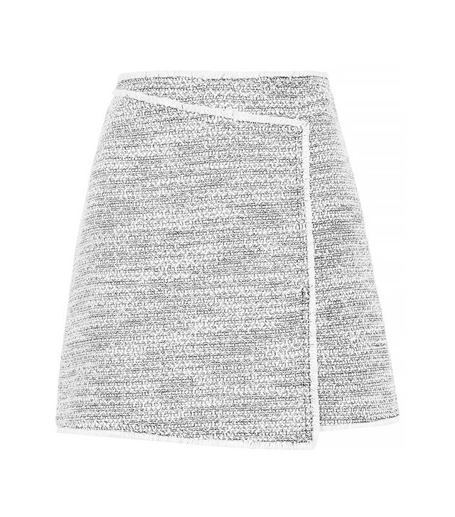 Topshop Wrap Front Boucle Skirt