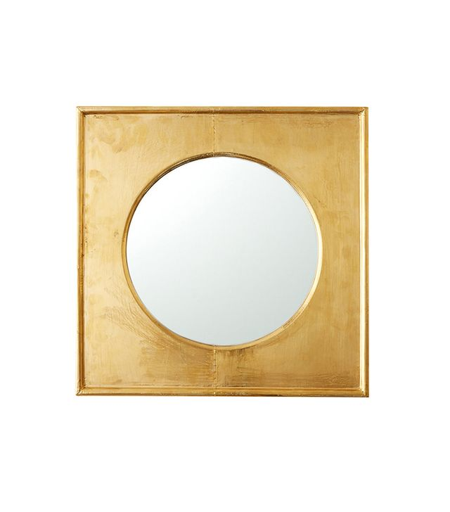 Terrain Brass Square Frame Mirror