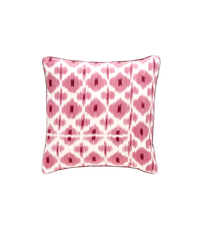 Madeline Weinrib Pink Daphne Ikat Pillow
