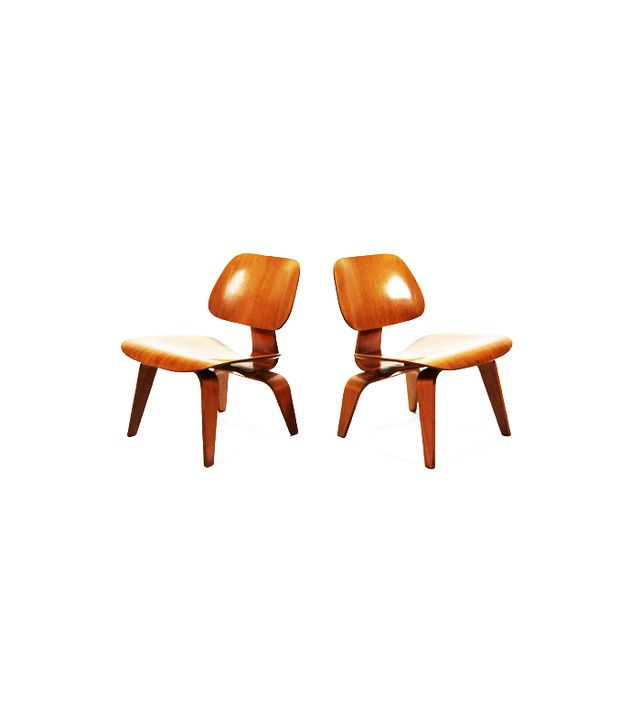 1st Dibs Eames Rare Matched Pair Walnut Lounge Chairs