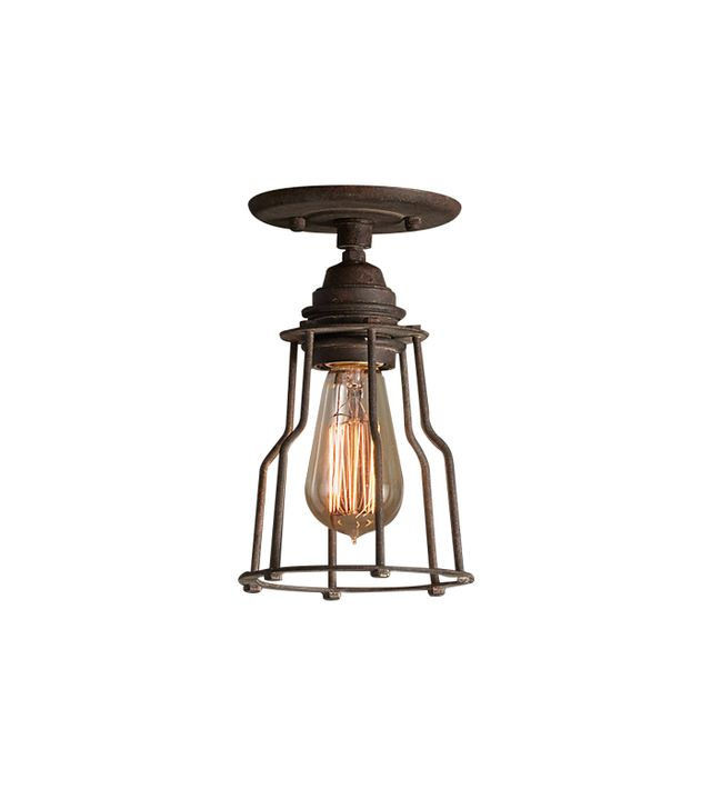 Restoration Hardware Industrial Cage Filament Flush Mount