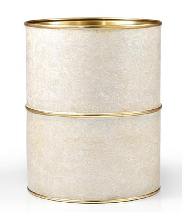 Labrazel Fiona Ivory Wastebasket
