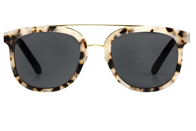 KREWE CL-10 in Oyster + Black 24K Sunglasses