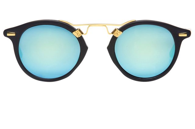 KREWE St. Louis Black Matte Sunglasses