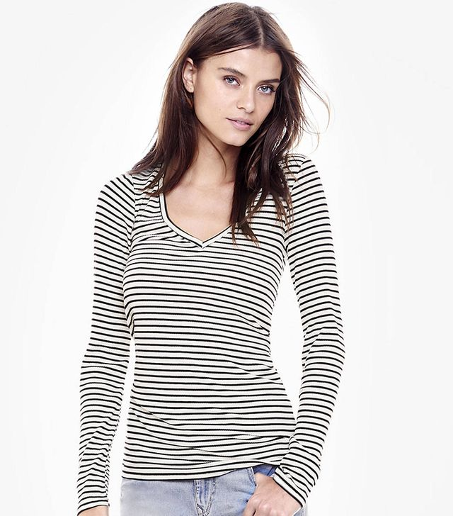 Express Striped One Eleven Long-Sleeve Top